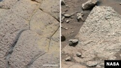 The space agency says rocks like these are evidence that Mars could have supported life.
