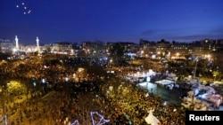 2015年1月11日几十万法国公民在巴黎街头参加团结大游行