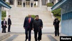 امریکی صدر ڈونلڈ ٹرمپ اور کم جونگ ان جون کے آخری ہفتے میں غیر فوجی علاقے میں ملاقات کی تھی۔