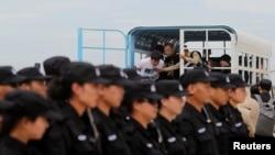 Cảnh sát Trung Quốc đang làm nhiệm vụ, ảnh minh họa.