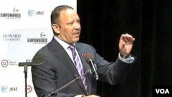 Presiden organisasi National Urban League, Marc Morial berpidato di Washington DC (foto: dok).