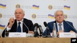 Николай Азаров и Владимир Олейник