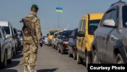На административной границе Донецкой области. Архивное фото