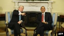 Кевин Радд и Барак Обама