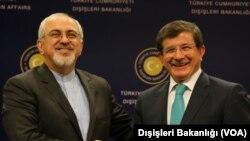 Dışişleri Bakanı Ahmet Davutoğlu, İran Dışişleri Bakanı Muhammed Cevad Zarif ile