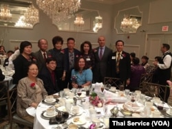 Congresswoman Tammy Duckworth, the Democratic candidate for the Illinois senate race, at a fund-raising event organized by the Thai-American community in Chicago areas on September 11th, 2016.