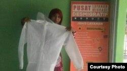 APD produksi mantan pekerja migran di sejumlah daerah di Jawa tengah, Jawa Barat dan Jawa Timur. (Foto: courtesy)