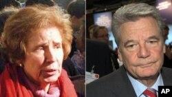 'Nazi Avcısı' olarak bilinen Beate Klarsfeld ve muhalefetteki Sol Parti'nin adayı Joachim Gauck