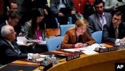 지난달 20일 유엔 안전보장이사회에서 이사국 대표들이 시리아 내전 사태에 대해 논의하고 있다. (자료사진)