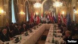 Ngoại trưởng các nước đang họp bàn về vấn đề Syria tại Vienna, Áo, ngày 29/10/2015.
