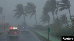 L'ouragan Irma sur l'île de Puerto Rico, le 6 septembre 2017.