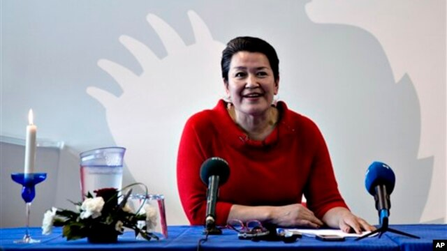 Greenland's incoming Prime Minister Aleqa Hammond, in Nuuk, Greenland, March 26, 2013