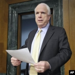 Sen. John McCain, R-Ariz., the ranking Republican on the Senate Armed Services Committee (file)