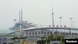 连结香港珠海澳门的港珠澳大桥
