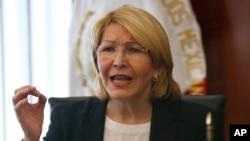 La exfiscal general de Venezuela, Luisa Ortega Diaz, habló en Colombia, en el antejuicio de mérito para enjuiciar por corrupción y otros delitos contra el presidente de Venezuela Nicolás Maduro.
