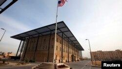 سفارت آمریکا در منطقه حفاظت شده موسوم به منطقه سبز در بغداد قرار دارد.