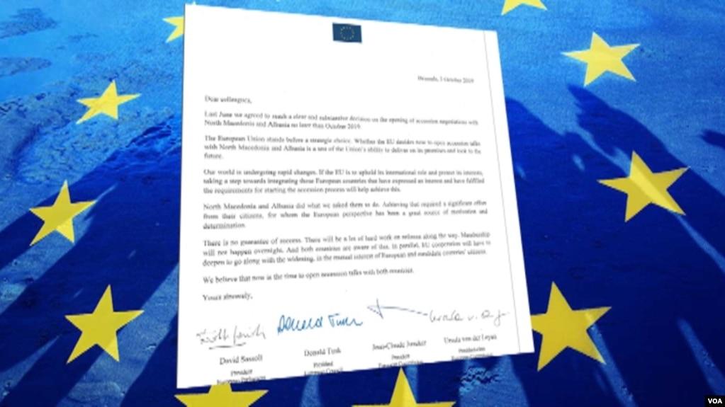 Drejtuesit e BE-së: Të hapen bisedimet me Tiranën e Shkupin