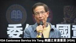港大校友、民主黨創黨主席李柱銘 (攝影:美國之音湯惠芸)