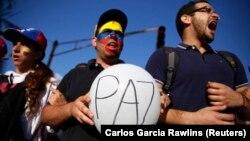 López enmarcó su mensaje en el deterioro de la crisis económica que vive Venezuela y la represión a la que son objeto opositores al régimen del presidente Nicolás Maduro.