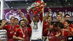 Испания - чемпион Европы. Киев. 1 июля 2012 г.