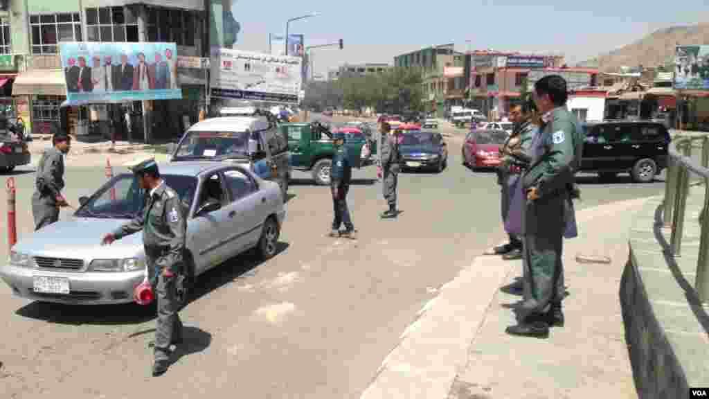 نیروهای امنیتی کابل در جریان تامین امنیت انتخابات