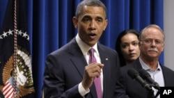 """Barack Obama habla de la """"regla Buffett"""" este miércoles en la Casa Blanca."""
