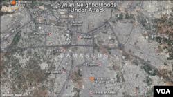 Damascus, Syria Neighborhoods Under Attack