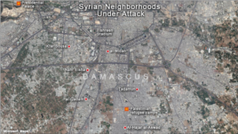 Damascus, Syria Neighborhoods Under Attack