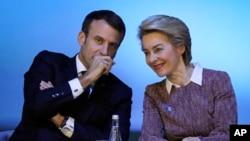 Presidenti francez bisedon me Presidenten e zgjedhur të Komisionit Evropian Ursula Von der Leyen