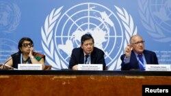၂၀၁၈ စက္တင္ဘာ တုန္းက ျမန္မာဆိုင္ရာ ကုလအခ်က္လက္ရွာအဖြဲ႔ Geneva တြင္ သတင္းစာရွင္းလင္းပြဲျပဳလုပ္
