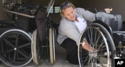 Therapist Shannon Morgan does her best to ensure that her patients receive suitable wheelchairs