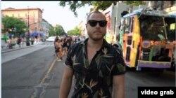 Misha Tytyunik, seniman Ukraina di New York. (Video grab)