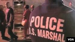 Police investigate crime scene in Los Angeles