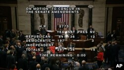 Votación sobre el presupuesto en la Cámara de Representantes.