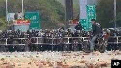 深汕高速公路海門鎮入口有警察把守
