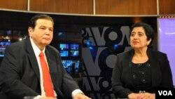 Η υπουργός Εξωτερικών της Κύπρου Ερατώ Κοζάκου Μαρκουλλή στη Φωνή της Αμερικής