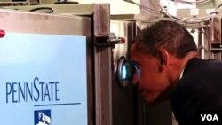 El presidente de Estados Unidos, Barack Obama, durante su reciente visita a Pennsylvania para impulsar la innovación en el desarrollo del país.