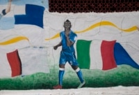 Balotelli mural.