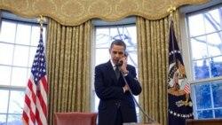 اوباما در گفتگو با مدودف انتخابات پارلمانی روسيه را زير سؤال برد