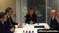 Delegacije Beograda i Prištine sa visokom predstavnicom EU Federikom Mogerini
