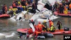 台灣復興ATR 72-600班機2月4日空難後展開救援行動。