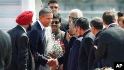 Le président Obama à son arrivée à Mumbai