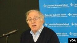 哥倫比亞大學政治學教授傑拉寇蒂斯(美國之音宋德成拍攝)