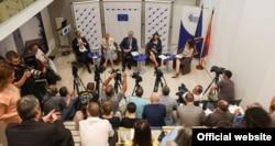 """Konferencija """"Od rumunskog do finskog predsedavanja Savetu EU"""", u EU info centru u Beogradu, 4. jula 2019."""