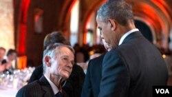 Mustafa Cəmil Krımoğlu ABŞ prezidenti Barak Obama ilə görüşüb