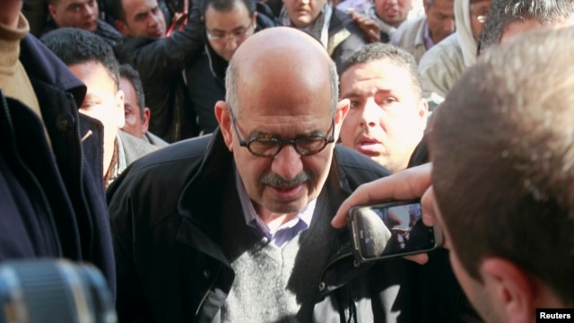 Mohamed ElBaradei, former head of the U.N. nuclear watchdog and Nobel laureate, Cairo, Jan. 2012 file photo.