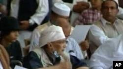 图为洛克比爆炸案的爆炸凶手阿卜杜勒.巴萨特.迈格拉希今年7月26日资料照