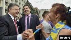Петро Порошенко и Михаил Саакашвили