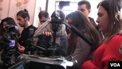 Jurnalistlər Mehman Hüseynovun mətbuat konfransında