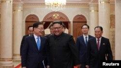 Kim Jong Un ari kumwe n'Ushinzwe iby'umutekano w'igihugu muri Koreya y'epfo